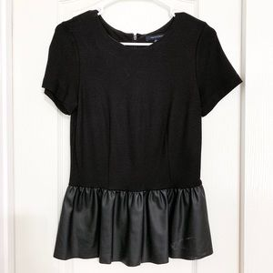 French Connection peplum Top. Black, XSmall
